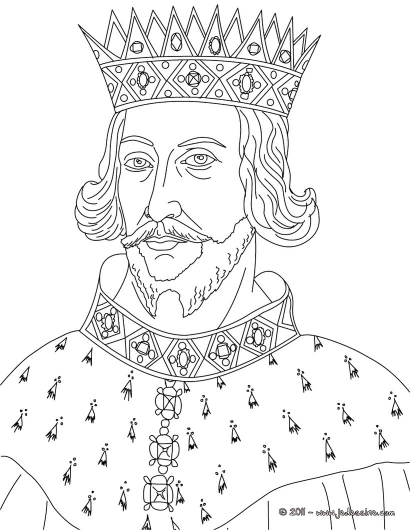 Coloriages coloriage du roi henri ii for King jehoshaphat coloring page