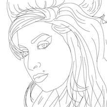 Coloriage d'AMY WINEHOUSE