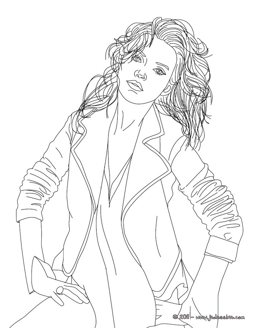 Coloriage du top model KATE MOSS