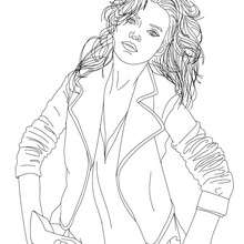 coloriage du top model kate moss - Coloriage Top Model