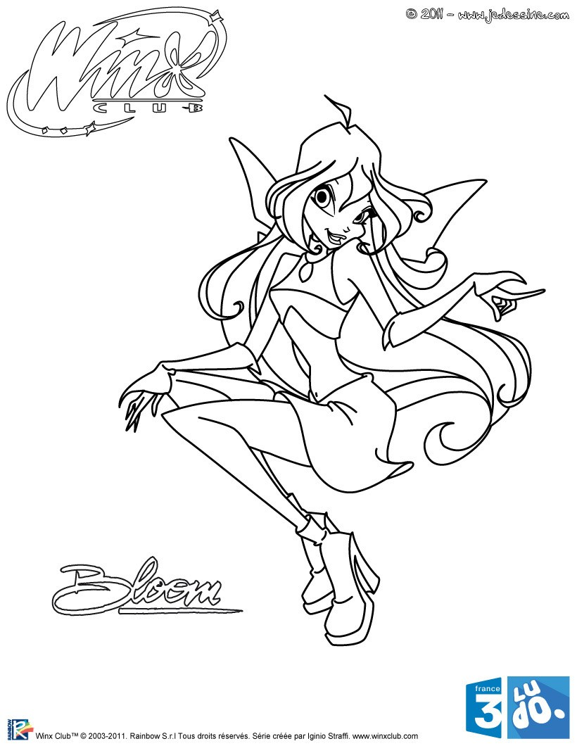 Coloriages coloriage bloom - Coloriage winx bloom ...