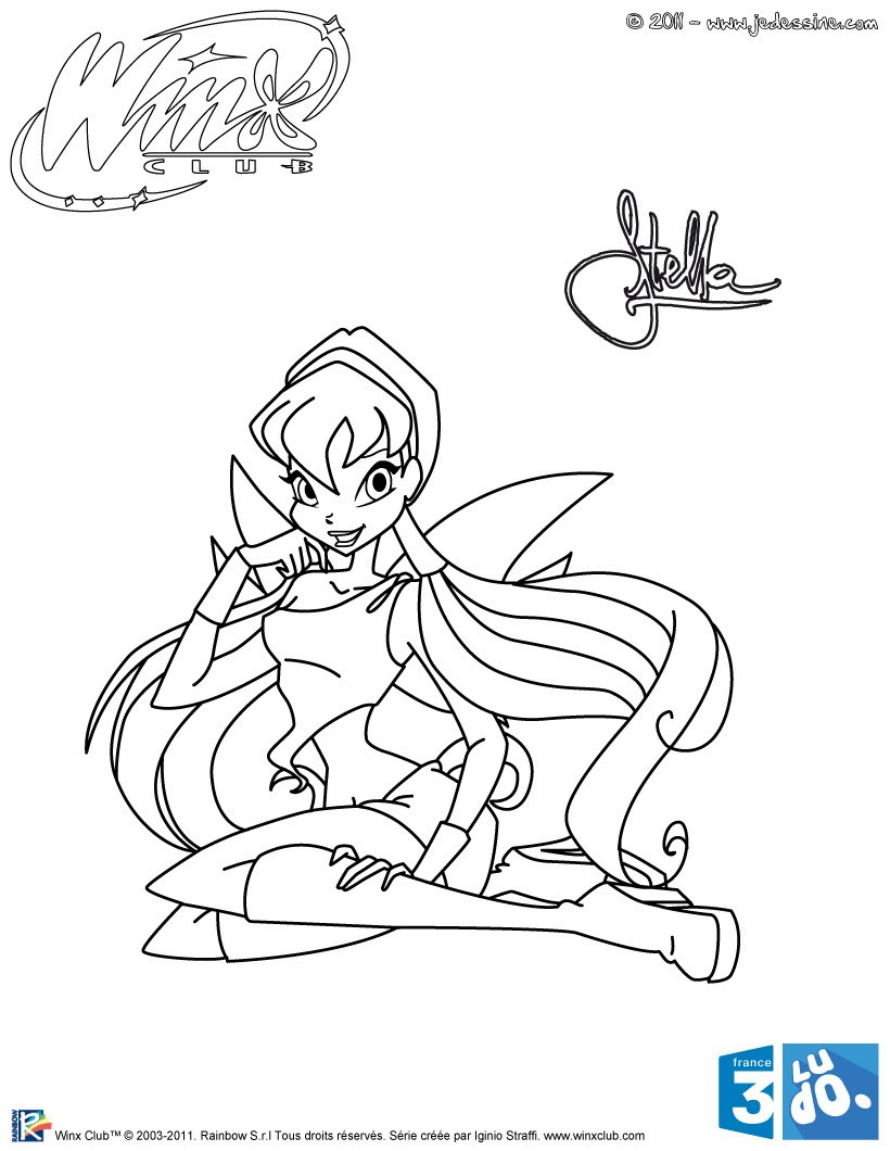 Coloriages stella de winx club - Coloriage winx bloom ...
