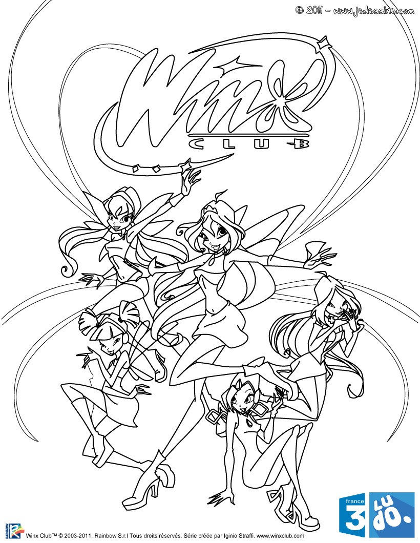 Coloriages coloriage winx club gratuit - Dessin anime des winx club ...
