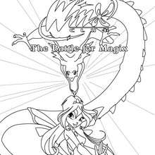 laya transformation bloomix coloriage gratuit winx club