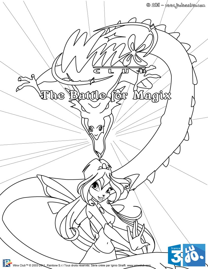 Coloriages coloriage gratuit winx club - Coloriage winx bloom ...