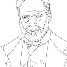 Coloriage VICTOR HUGO