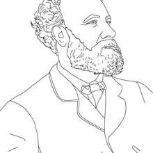 Coloriage JULES VERNE