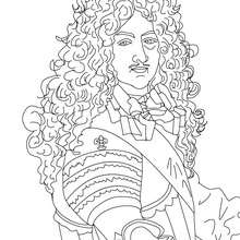 Coloriage de LOUIS XIV le Roi Soleil - Coloriage - Coloriage HISTOIRE ET PAYS - Coloriage FRANCE - Coloriage ROI DE FRANCE