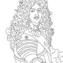 Coloriage de LOUIS XIV le Roi Soleil - Coloriage - Coloriage HISTOIRE ET PAYS - Coloriage FRANCE - Coloriage ROI DE FRANCE