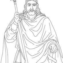Coloriage du Roi CLOVIS