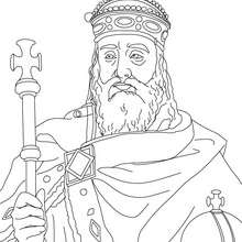 Coloriage de CHARLEMAGNE - Coloriage - Coloriage HISTOIRE ET PAYS - Coloriage FRANCE - Coloriage ROI DE FRANCE