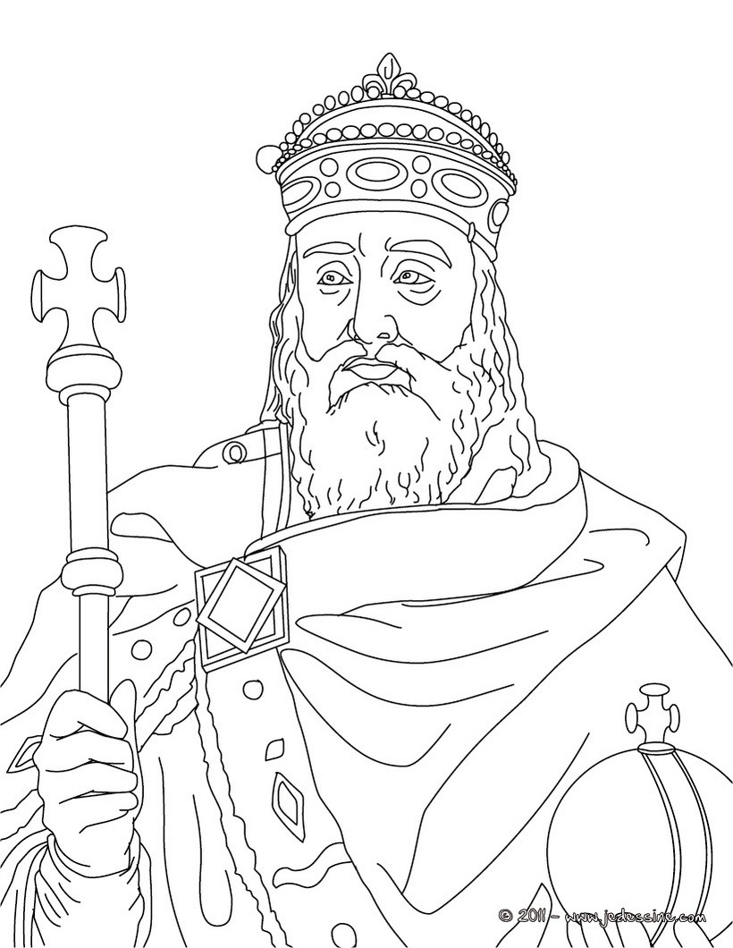 king portrait coloring pages - photo#4