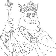 Coloriage de CHARLES MARTEL - Coloriage - Coloriage HISTOIRE ET PAYS - Coloriage FRANCE - Coloriage ROI DE FRANCE