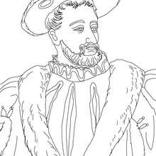 Coloriage de FRANOIS I - Coloriage - Coloriage HISTOIRE ET PAYS - Coloriage FRANCE - Coloriage ROI DE FRANCE