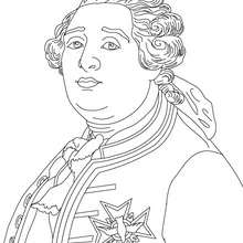 Coloriage de LOUIS XVI - Coloriage - Coloriage HISTOIRE ET PAYS - Coloriage FRANCE - Coloriage ROI DE FRANCE