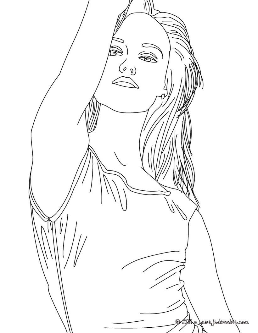 Coloring pages of vanessa h