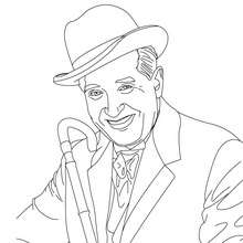 Coloriage MAURICE CHEVALIER - Coloriage - Coloriage HISTOIRE ET PAYS - Coloriage FRANCE - Coloriage FRANÇAIS CELEBRES