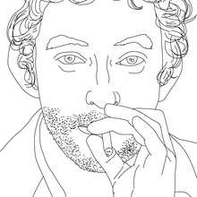 Coloriage SERGE GAINSBOURG - Coloriage - Coloriage HISTOIRE ET PAYS - Coloriage FRANCE - Coloriage FRANÇAIS CELEBRES