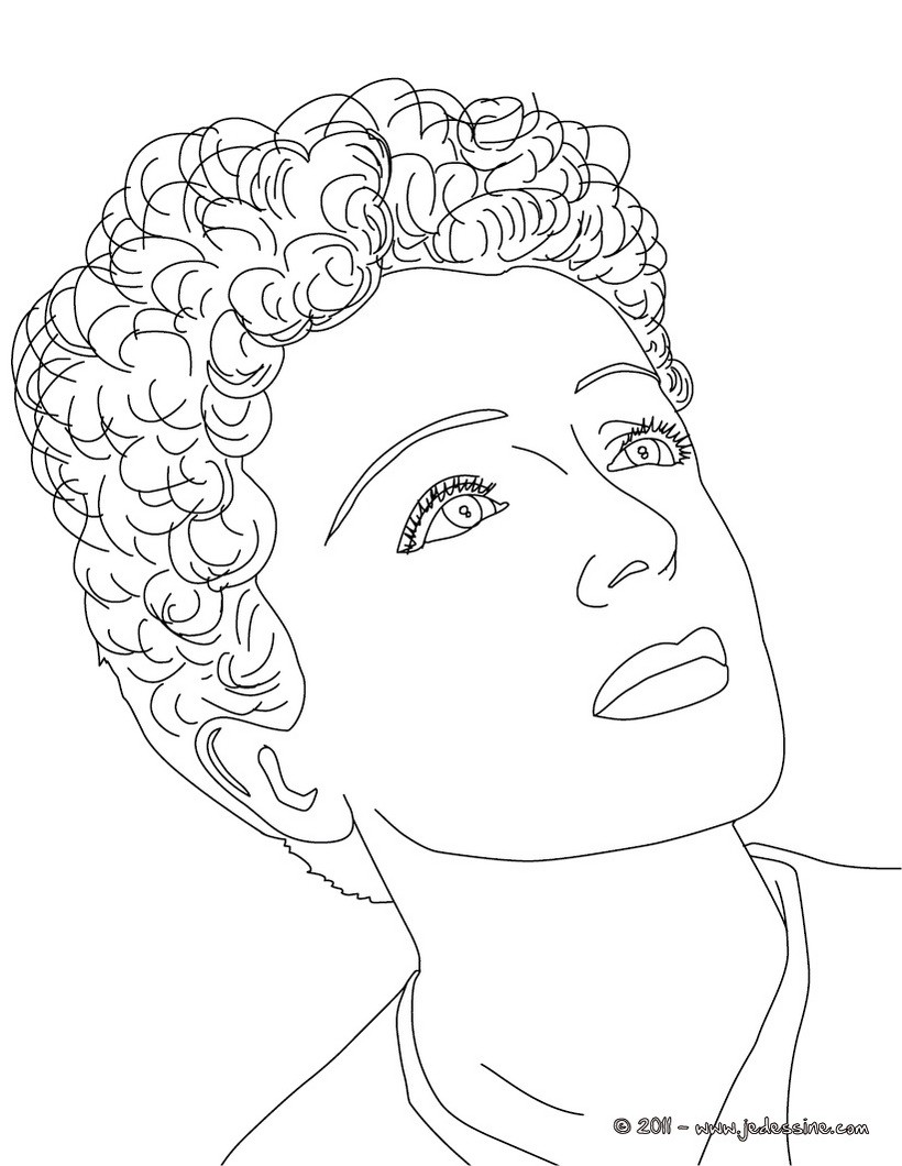 coloriage EDITH PIAF