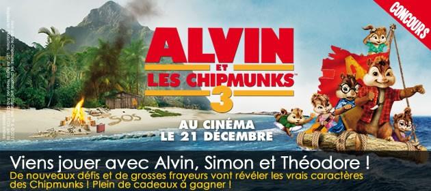 Joue Avec ALVIN ET LES CHIPMUNKS 3 Et Gagne De Super