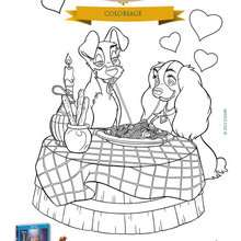 Coloriage gratuit  LA BELLE ET LE CLOCHARD - Coloriage - Coloriage DISNEY - Coloriage LA BELLE ET LE CLOCHARD