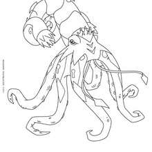 Coloriage Tentaclion