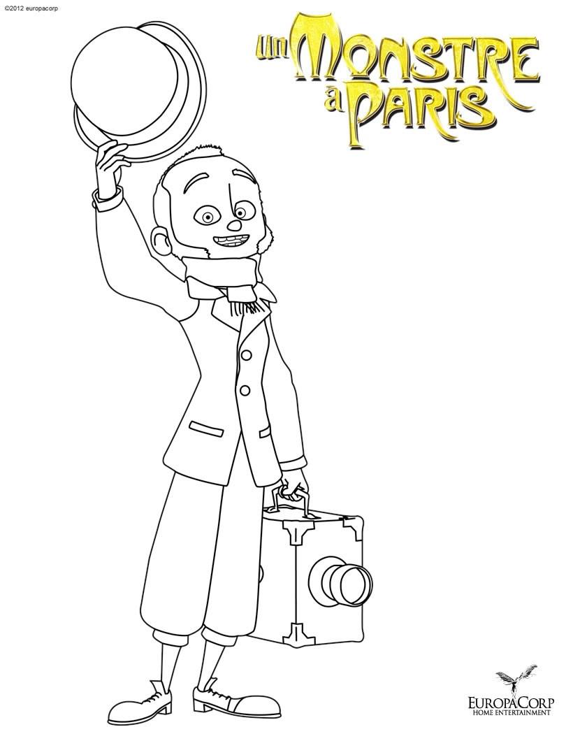 dessin a imprimer un monstre a paris
