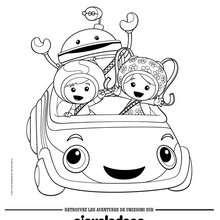 Les Umizoomi dans la Umi voiture