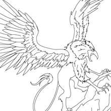 Coloriage GRIFFON - Coloriage - Coloriage HISTOIRE ET PAYS - Coloriage MYTHOLOGIE GRECQUE