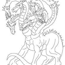 Coloriage HYDRE DE LERNE - Coloriage - Coloriage HISTOIRE ET PAYS - Coloriage MYTHOLOGIE GRECQUE