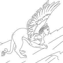 Coloriage SPHINX - Coloriage - Coloriage HISTOIRE ET PAYS - Coloriage MYTHOLOGIE GRECQUE