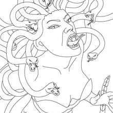 Coloriage MEDUSA - Coloriage - Coloriage HISTOIRE ET PAYS - Coloriage MYTHOLOGIE GRECQUE