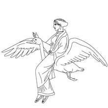 Coloriage APHRODITE, déesse grecque de l'amour - Coloriage - Coloriage HISTOIRE ET PAYS - Coloriage MYTHOLOGIE GRECQUE