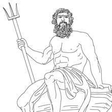 Coloriage DIEU POSEIDON, Dieu des océans - Coloriage - Coloriage HISTOIRE ET PAYS - Coloriage MYTHOLOGIE GRECQUE