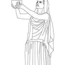 Coloriage HESTIA, déesse du foyer - Coloriage - Coloriage HISTOIRE ET PAYS - Coloriage MYTHOLOGIE GRECQUE