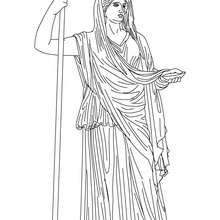 Coloriage HERA, déesse aux bras blancs - Coloriage - Coloriage HISTOIRE ET PAYS - Coloriage MYTHOLOGIE GRECQUE