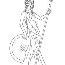 Coloriage ATHENA, déesse de la guerre et de la sagesse - Coloriage - Coloriage HISTOIRE ET PAYS - Coloriage MYTHOLOGIE GRECQUE
