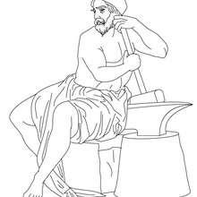 Personnage mythologique : Coloriage HEPHAISTOS, dieu du feu
