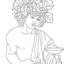 Coloriage DIEU DIONYSOS, dieu du vin - Coloriage - Coloriage HISTOIRE ET PAYS - Coloriage MYTHOLOGIE GRECQUE