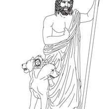 Coloriage DIEU HADES, Dieu des enfers - Coloriage - Coloriage HISTOIRE ET PAYS - Coloriage MYTHOLOGIE GRECQUE