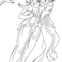 Coloriage LETO, déesse de la maternité - Coloriage - Coloriage HISTOIRE ET PAYS - Coloriage MYTHOLOGIE GRECQUE