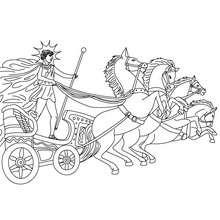 Coloriage DIEU HELIOS, Dieu du soleil - Coloriage - Coloriage HISTOIRE ET PAYS - Coloriage MYTHOLOGIE GRECQUE