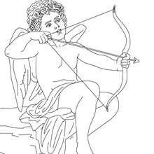 Personnage mythologique : Coloriage EROS, Dieu de l'amour