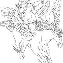 Personnage mythologique : Coloriage La Légende de Bellerophon et Pégase