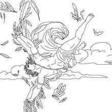 Personnage mythologique : Coloriage le Vol d'Icare