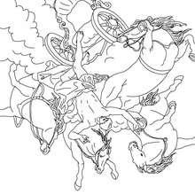 Personnage mythologique : Coloriage Phaéton et le char du Soleil