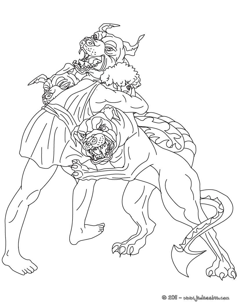 Coloriages les 12 travaux d 39 hercule - Dessin mythologie ...