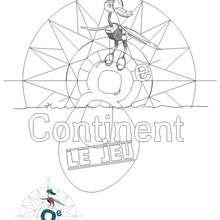 Coloriage 8ème continent - Coloriage - Coloriage A IMPRIMER - Coloriage FUTUROSCOPE
