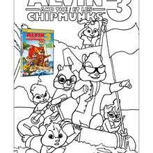 Coloriage des CHIPPETTES - Coloriage - Coloriage FILMS POUR ENFANTS - Coloriage ALVIN ET LES CHIPMUNKS 3