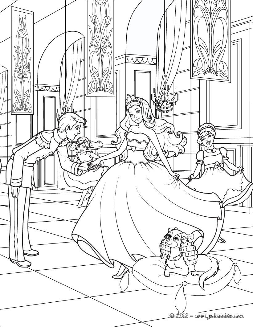 Coloriages coloriage de la princesse tori - Coloriage barbie popstar ...